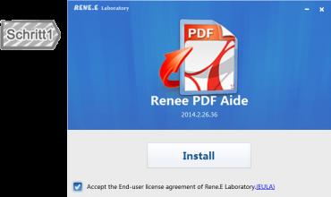Vor Installierung von Renee PDF aide