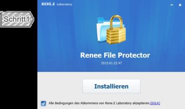 Installieren von Renee File Protector