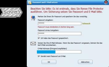 Passwort setzen
