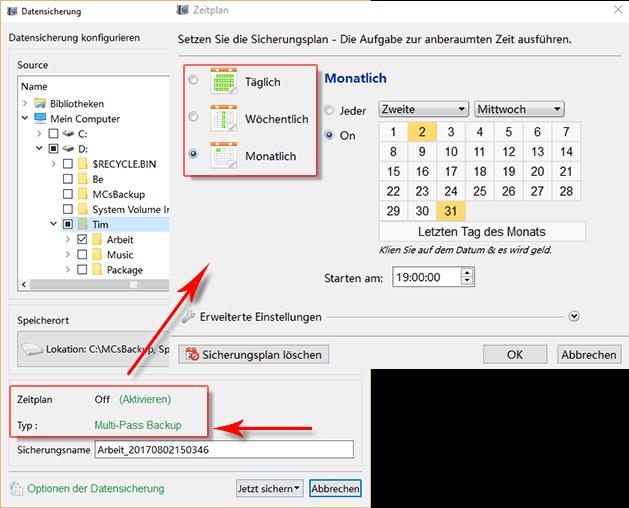 Datensicherung_Taskplaner erstellen