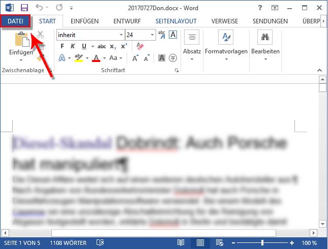 Option Datei