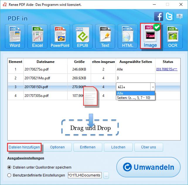 PDF-Dateien hinzufügen