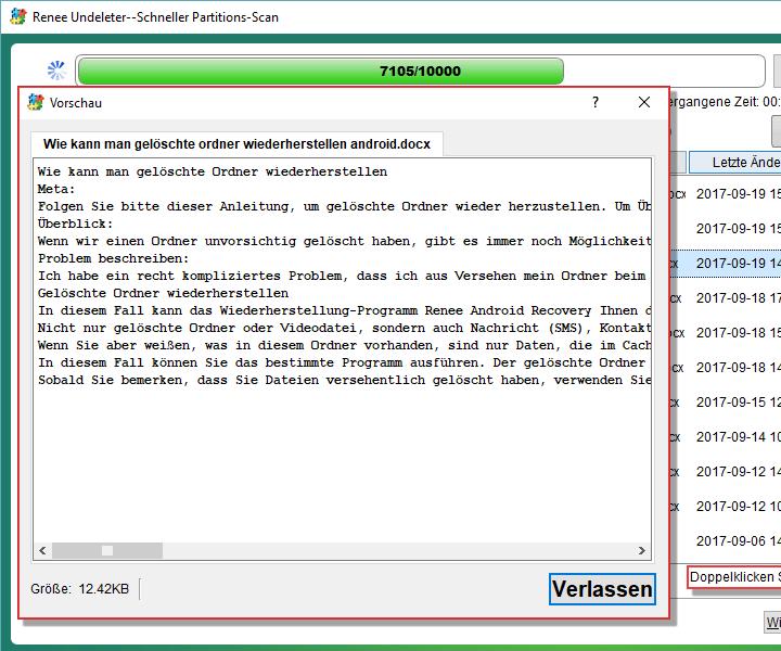 Wählen Sie Dateien aus. Sie können den Inhalt durch Doppelklicken schauen.