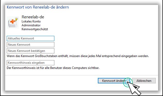 Windows 10 Passwort deaktivieren oder ändern
