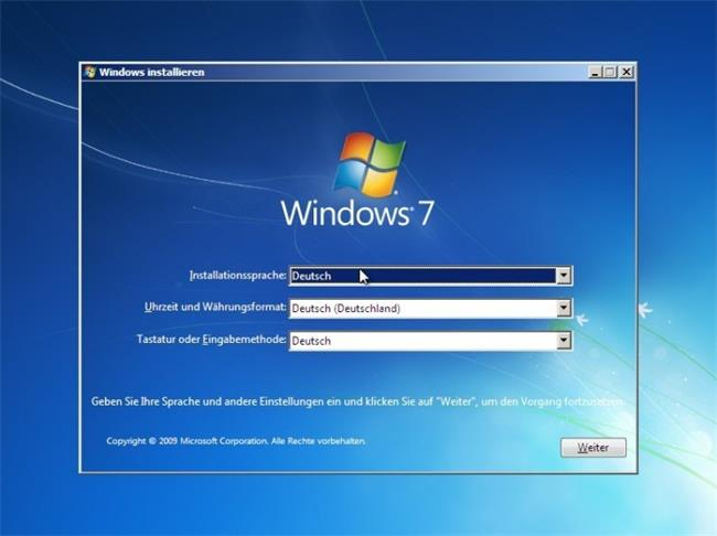 Windows 7 neuinstallieren