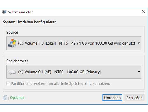 Schritt 2. Wähle die HDD und SSD aus.