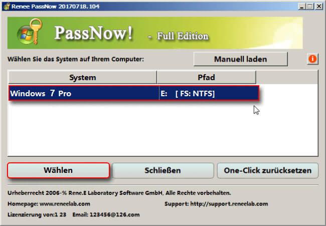 Windows7 Passwort vergessen