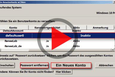 Windows Passwort zurücksetzen