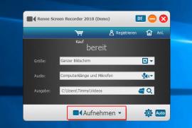 Mit Renee Software Bildschirm aufnehmen