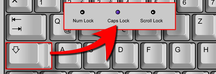 Caps Lock aktivieren