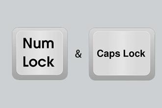 Caps-Lock- und Num-Lock-Taste prüfen