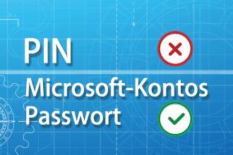 Microsoft-Kontos Passwort eingeben