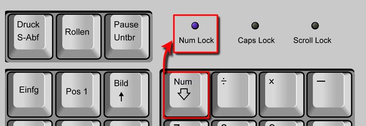 NUM Lock aktivieren