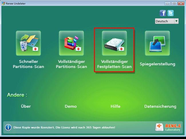 Vollständiger Festplatte-Scan ausführen