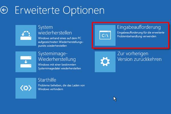 Windows 10 Problembehandlung Eingabeaufforderung