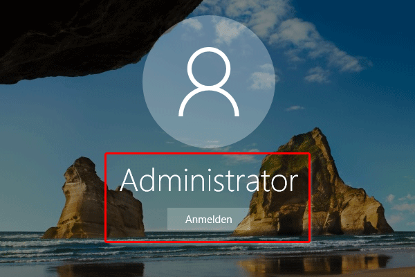 Windows 10 Administrator anmelden