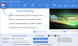 Renee Video Editor Pro Video Toolbox ausführen