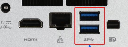 4. blauer USB Port