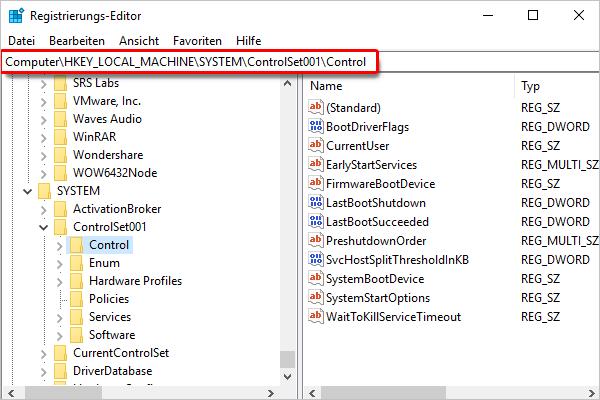 Registrierungseditor_System_Control