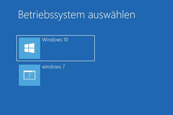 Windows Bootmanager_Betriebssystem auswählen
