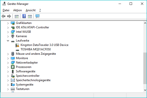 im Geräte-Manager Hardware doppelklicken