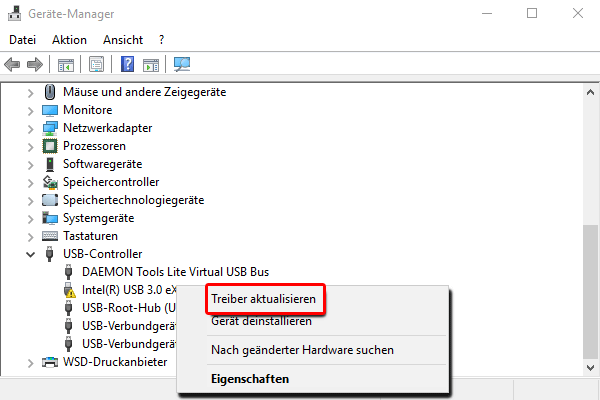 Gerät Manager_USB-Controller_Treiber aktualisieren