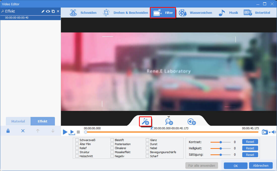 Renee Video Editor Pro_Filter