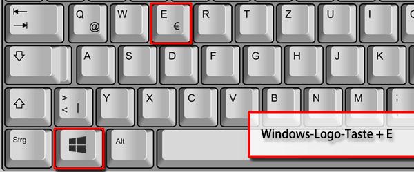 Windowstaste + E