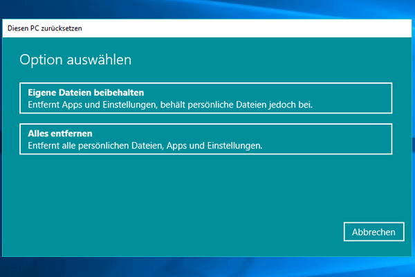 Einstellungen_Update und Sicherheit_Wiederherstellung_Alle entfernen.