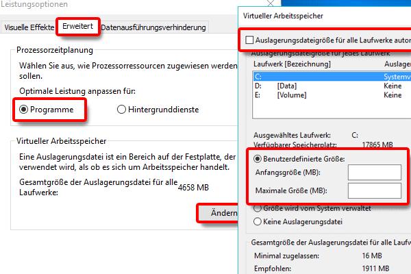 Leistungsoptionen_Programme ändern