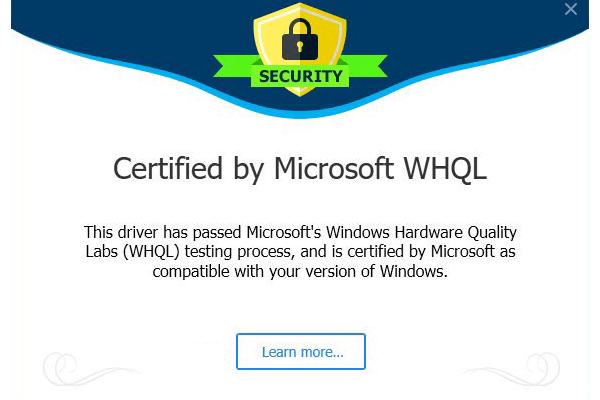 Certified by microsoft whql_600