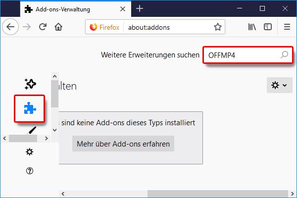 Firefox_Add ons_PlugIns OFFMP4 suchen