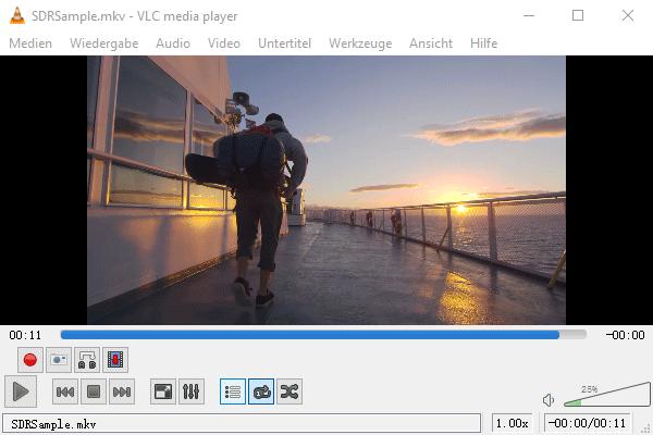 MKV Datei mit VLC abspielen