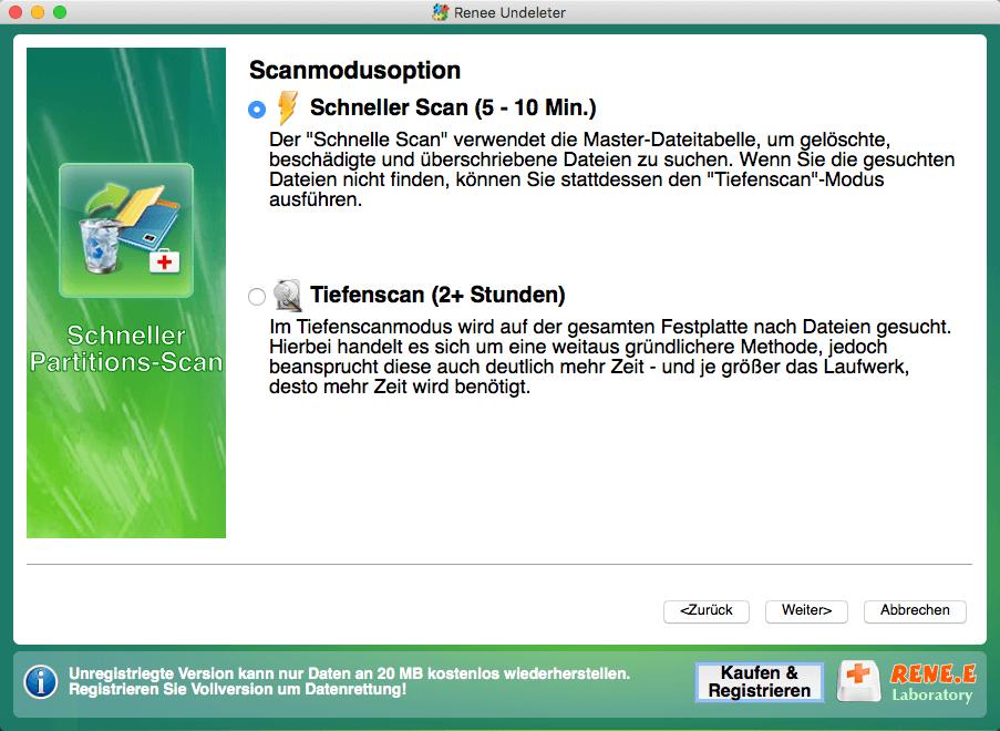 Datei wiederherstellen_Scan Mode