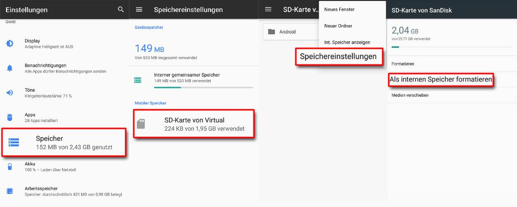 SD Karte als internen Speicher nutzen Android_1