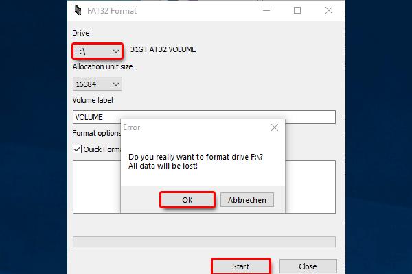 SD Karte FAT32 formatieren_fat32 format