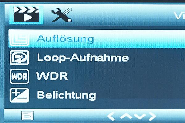 So kann man bei Dashcam Loop Aufnahme aktivieren