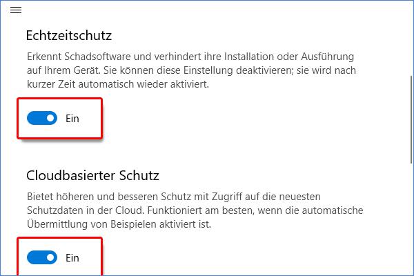 Windows Sicherheit deaktivieren