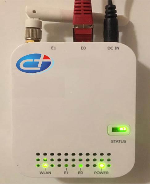 den Router einschalten