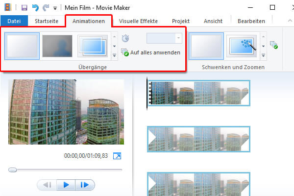 Mit Movie Maker bei Windows 10 Video schneiden