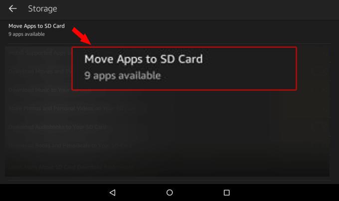 App von Kindle Fire auf SD Karte übertragen