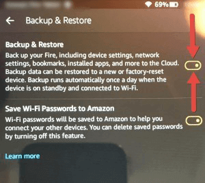Kindle Fire vor Datenverlust schützen